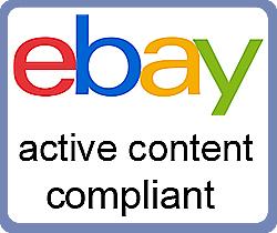 eBay Active Content Compliant