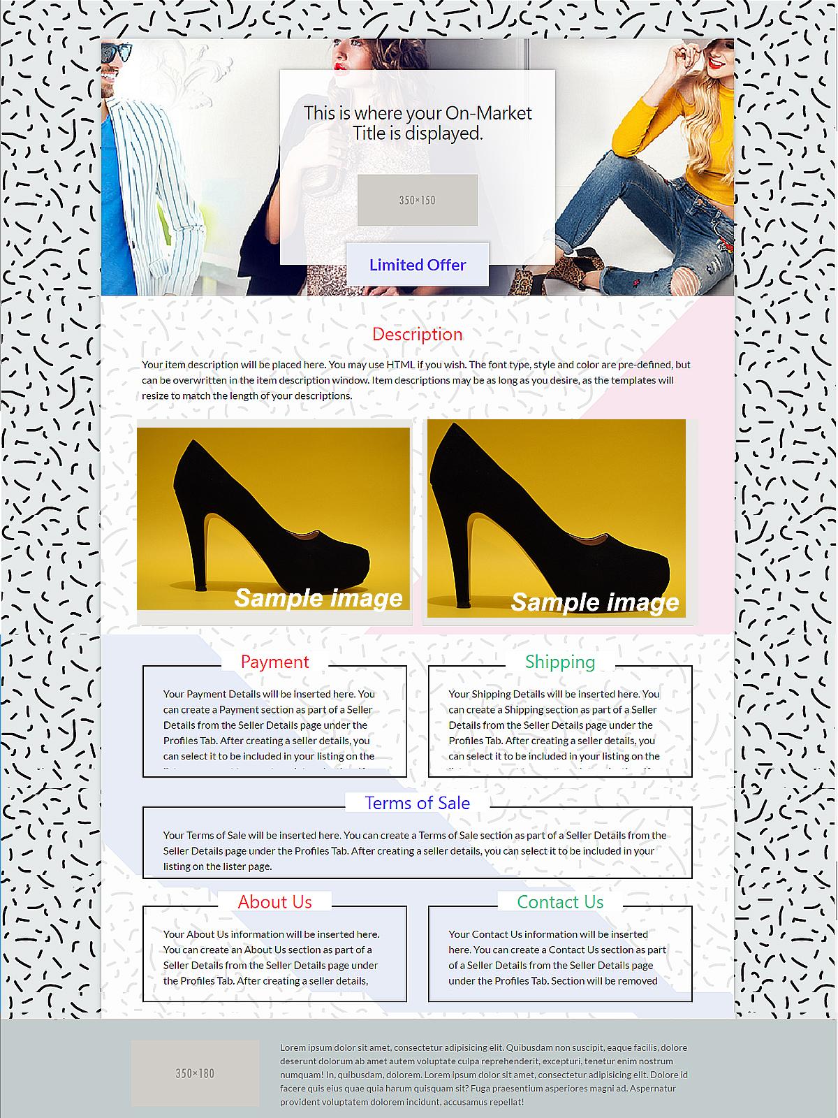 EBay Templates Vendios EBay Templates Listing Templates - How to create ebay template